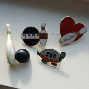 Lot of VINTAGE bowling themed pins